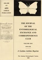 Journal of the Entomological Exchange and Correspondence Club